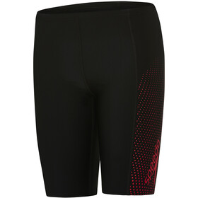 speedo Gala Logo Panel Jammer-uimahousut Pojat, black/risk red
